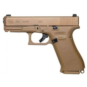 Glock 19X 9mm GNS Semi Auto Pistol Coyote Brown w/3 Mags