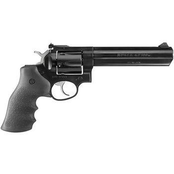 Ruger Model GP100 Std Revolver 357 MAG, 6 in, Rubber MoNogrip, 6 Rnd, Medium Blued Frame, Combat Trgr