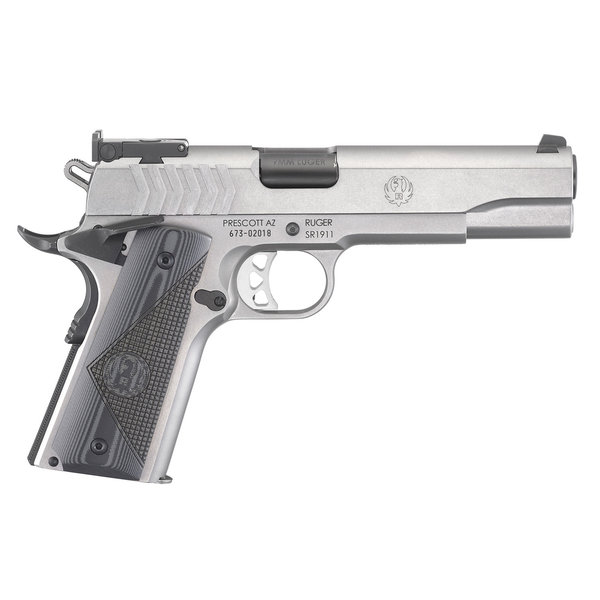 "Ruger Model SR1911 Target Semi Auto Pistol 9MM 5"" S/S 9rd G-10 Grips"