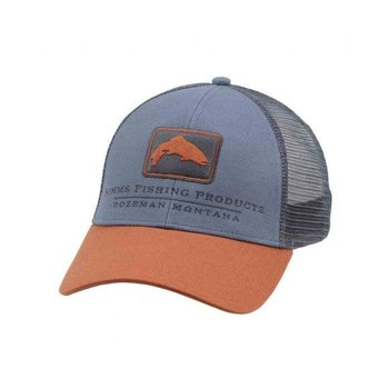 Simms Trout Icon Trucker Cap, Storm