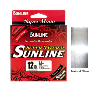 Sunline Super Natural 8lb Clear Mono. 330yds