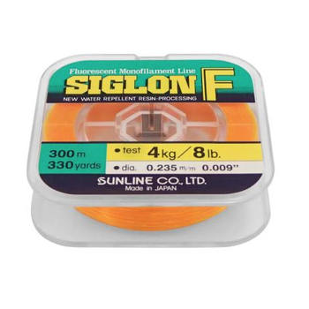 Sunline Siglon F P.5 Fluorescent Orange 8lb 330yds