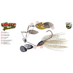 Molix Lover Triple Willow 1/2oz Spinnerbait Pummel Fish