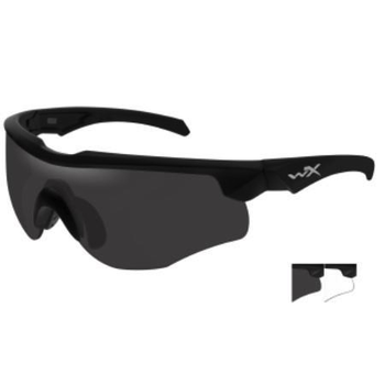Wiley-X Rogue Comm Grey/Clear/Matte Black Frame Shooting Glasses