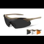Wiley-X Vapor Grey/Clear/Rust/Tan Frame Shooting Glasses