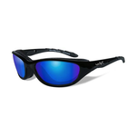 Wiley-X Airrage Polarized Blue Mirror/Gloss Black Frame Glasses