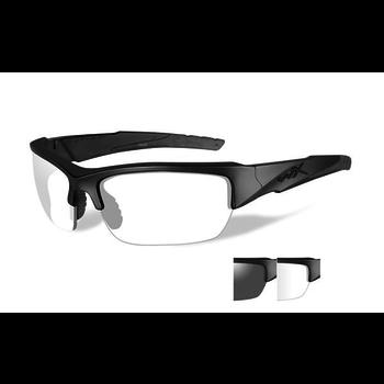 Wiley-X Valor Grey/Clear Lens/Matte Black Frame