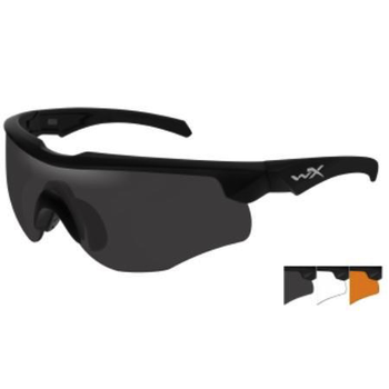 Wiley-X Rogue Comm Grey/Clear/Rust/Matte Black Frame Shooting Glasses