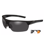 Wiley-X Guard Advanced Grey/Clear/Rust Matte Black Frame Shooting Glasses