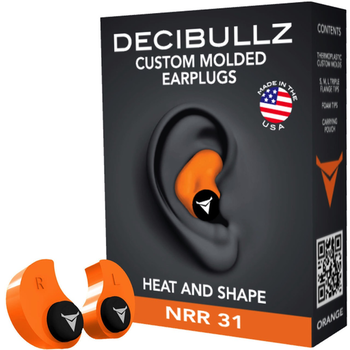 Decibullz Custom Molded Earplugs, Black