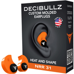Decibullz Custom Molded Earplugs, Orange