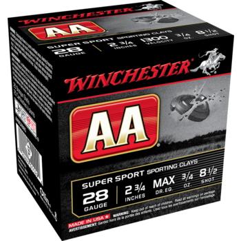 Winchester AA Target Ammo 28ga 2-3/4in 3/4oz 8.5 Shot 25 Rounds