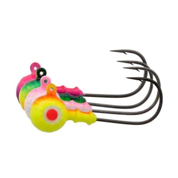 Mustad Walleye Head Pink/Pearl 3/8oz 6-pk