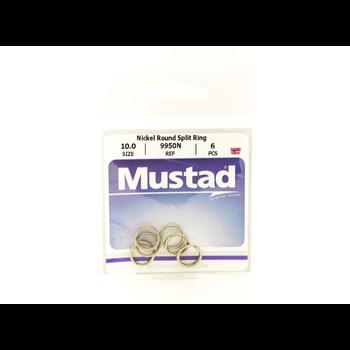 Mustad Round Split Ring Size 4.9 10-pk