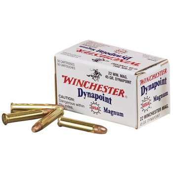 Winchester Dynapoint Ammo 22 WMR 45gr Copper Plated Hollow Point 50 Rounds