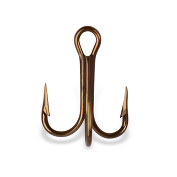 Mustad Treble Hook. Size 2 5-pk
