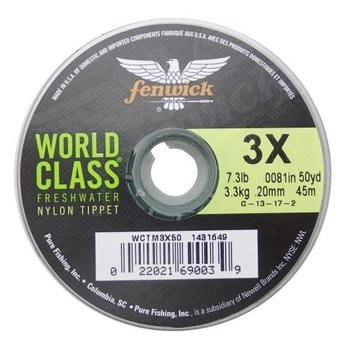 Fenwick World Class Tapered Leader 9' 2lb. Test. 1X.
