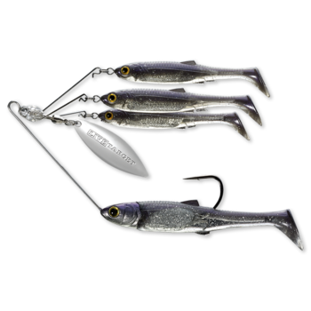 Koppers Live Target BaitBall Spinner Rig 1/4oz Purple Pearl Silver (Small)