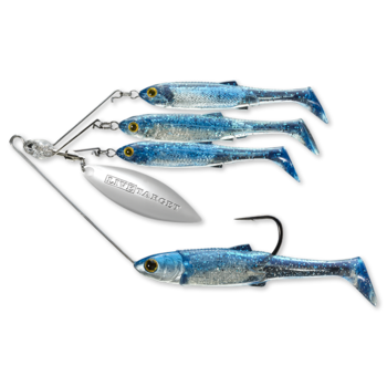 Koppers Live Target BaitBall Spinner Rig 3/4oz Blue Silver (Lrg)