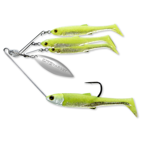Koppers Live Target BaitBall Spinner Rig 1/4oz Chartreuse Silver (Small)