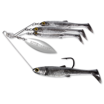 Koppers Live Target BaitBall Spinner Rig 1/4oz Smoke Silver (Small)