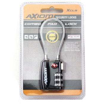 Axiom 30 MM Short Cable Loop Padlock, Black