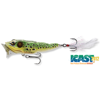 "Koppers Live Target Frog Popper. 3"" Green/Yellow 1/2oz"