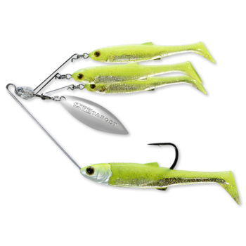 Koppers Live Target BaitBall Spinner Rig 3/8oz Chartreuse/Silver (Small)