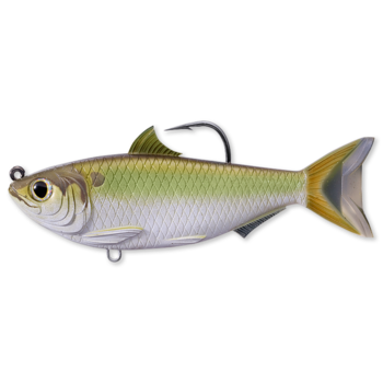 "Koppers Live Target Threadfin Shad Swimbait 3-1/2"" Green/Bronze"
