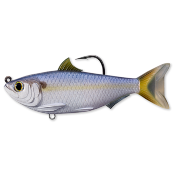 """Koppers Live Target Threadfin Shad Swimbait 4-1/2"""" Violet/Blue"""