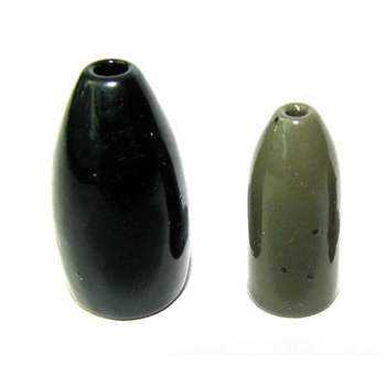 Ultra Tungsten 1/8oz Bullet Weight Green Pumpkin 4-pk