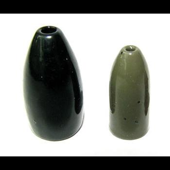 Ultra Tungsten 1/4oz Bullet Weight Green Pumpkin 3-pk