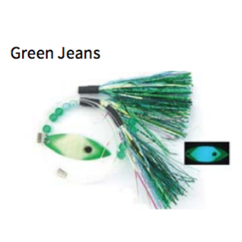 Moonshine Lures Fly Green Jeans
