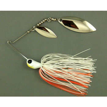 Ultra Tungsten T-Blade Spinnerbait 5/8oz Creamsicle Tandem Blades