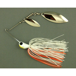 Ultra Tungsten T-Blade Spinnerbait 1/2oz Creamsicle Double Willow Silver