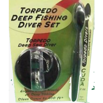 Torpedo Deep Fishing Diver Set Chrome Blue