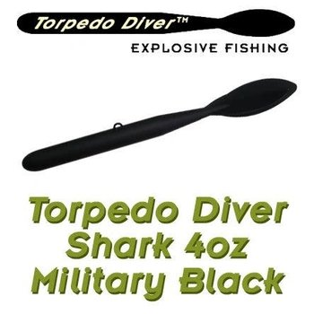 Torpedo Diver Shark. 4oz Black