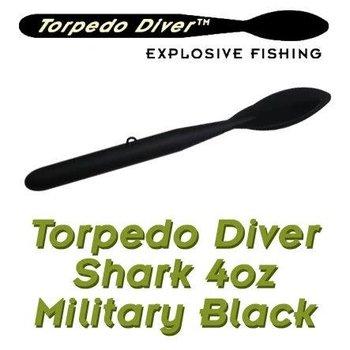 Torpedo Diver Shark. Black. 4oz