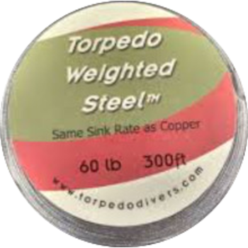 Torpedo Weighted Steel Trolling Wire. 60lb 300ft