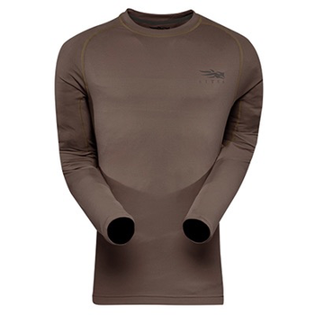 Sitka Core Lightweight Long-Sleeve Crew Shirt, Pyrite, L