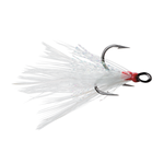 VMC X-Rap Tail Dressed #6 Treble 2-pk White