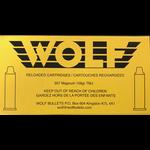Wolf Remanufactured Handgun Ammo 357 Magnum 158gr Wolf Brass Total Metal Jacket 50 Rounds