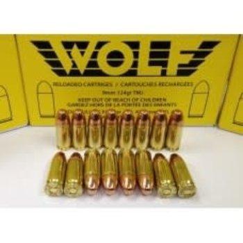 Wolf Remanufactured Handgun Ammo 9mm 124gr 250 Rounds