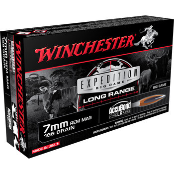 Winchester Expredition Big Game Long Range Ammo 7mm Rem Mag 168gr Accubond 20 Rounds