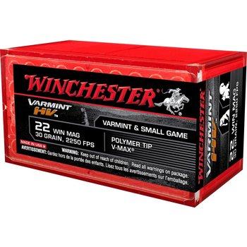 Winchester Varmint High Velocity Ammo 22 WMR 30gr Polimer Tip V-Max
