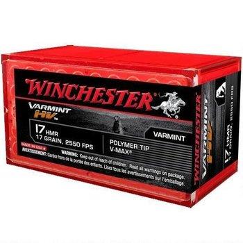Winchester Varmint High Velocity Ammo 17 HMR Hornady V-Max Polymer Tip 17 Grain 2550fps 50 Rounds