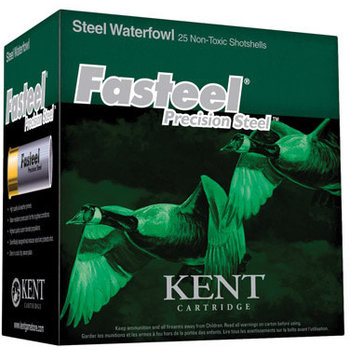 Kent Fasteel Waterfowl Ammo 12ga 2-3/4in 1-1/16oz #3 Shot 25 Rounds