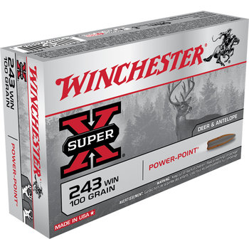 Winchester Super-X Ammo 243 Win 100gr 2960fps Power Point 20 Rounds