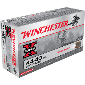 Winchester Super-X Ammo 44-40 Win 200gr 1190fps Soft Point 50 Rounds