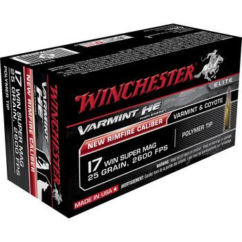 Winchester Varmint High Velocity Ammo 17 WSM 25gr Polymertip 50 Rounds